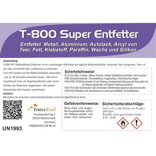 T-800 Super Entfetter 250 ml