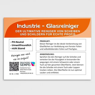 Industrie Glasreiniger 250 ml